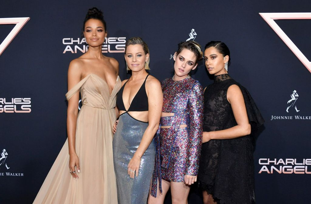 """Ella Balinska, Elizabeth Banks, Kristen Stewart und  Naomi Scott bei der Premiere von """"Charlie's Angels"""" Foto: AFP/Amy Sussman"""