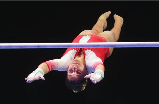 Elisabeth Seitz trainiert zu Hause
