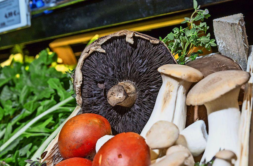 Auch im Frischeparadies ist das Pilzangebot derzeit gut. Foto: Lichtgut/Julian Rettig