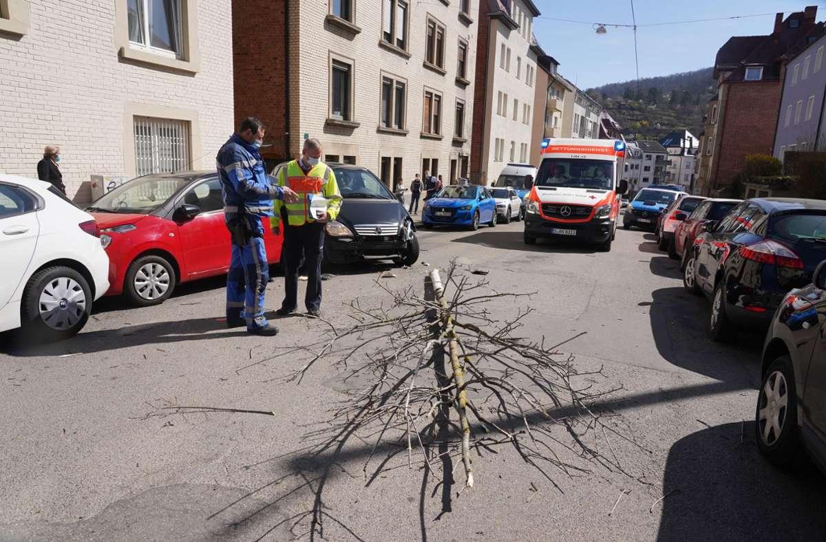 Der Unfall ereignete sich im Stuttgarter Osten. Foto: Andreas Rosar/Fotoagentur-Stuttgart