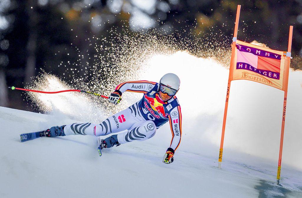 Rasant: Romed Baumann überzeugt in Kitzbühel mit guten Leistungen. Foto: dpa/Expa