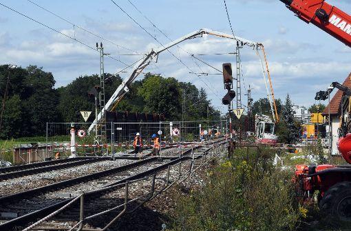Trasse der Rheintalbahn noch bis Oktober gesperrt