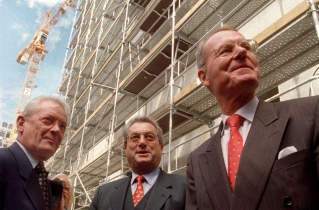 Hans Peter Stihl (DIHK), Dieter Hundt (BDA)  und Hans-Olaf Henkel (BDI): Drei Baden-Württemberger waren lange die Vertreter der deutschen Wirtschaft. Foto: dpa