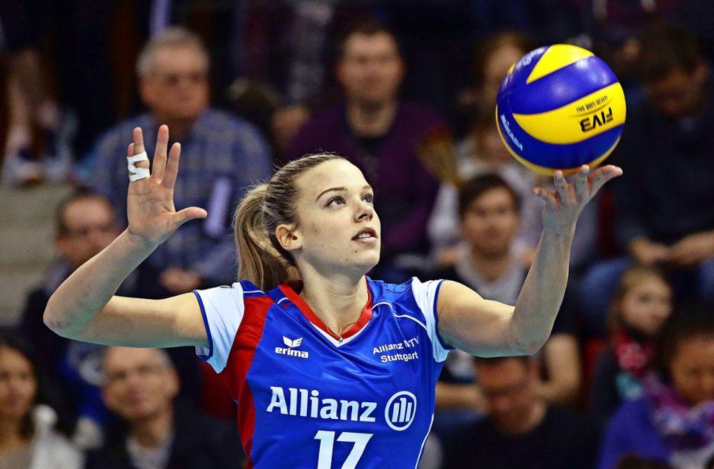 Paige Tapp bleibt Stuttgart treu. Foto: Baumann