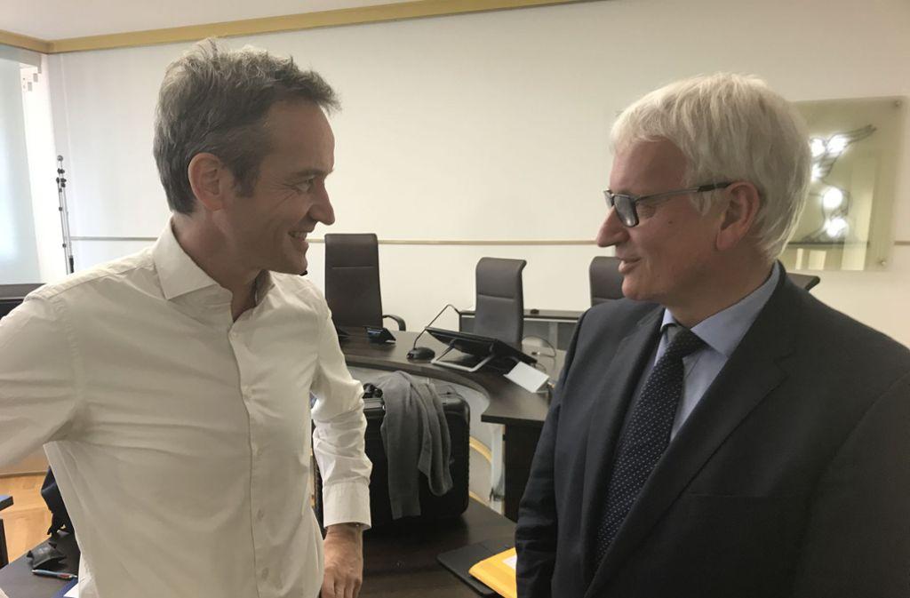 Jürgen Resch und DUH-Anwalt Remo Klinger. Foto: Binkowski