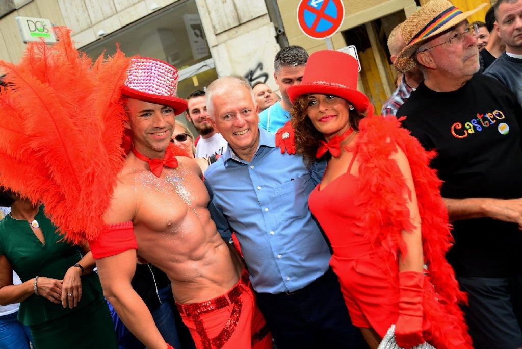 Auch Oberbürgermeister Fritz Kuhn war beim Christopher Street Day in Stuttgart mit dabei. Foto: www.7aktuell.de  