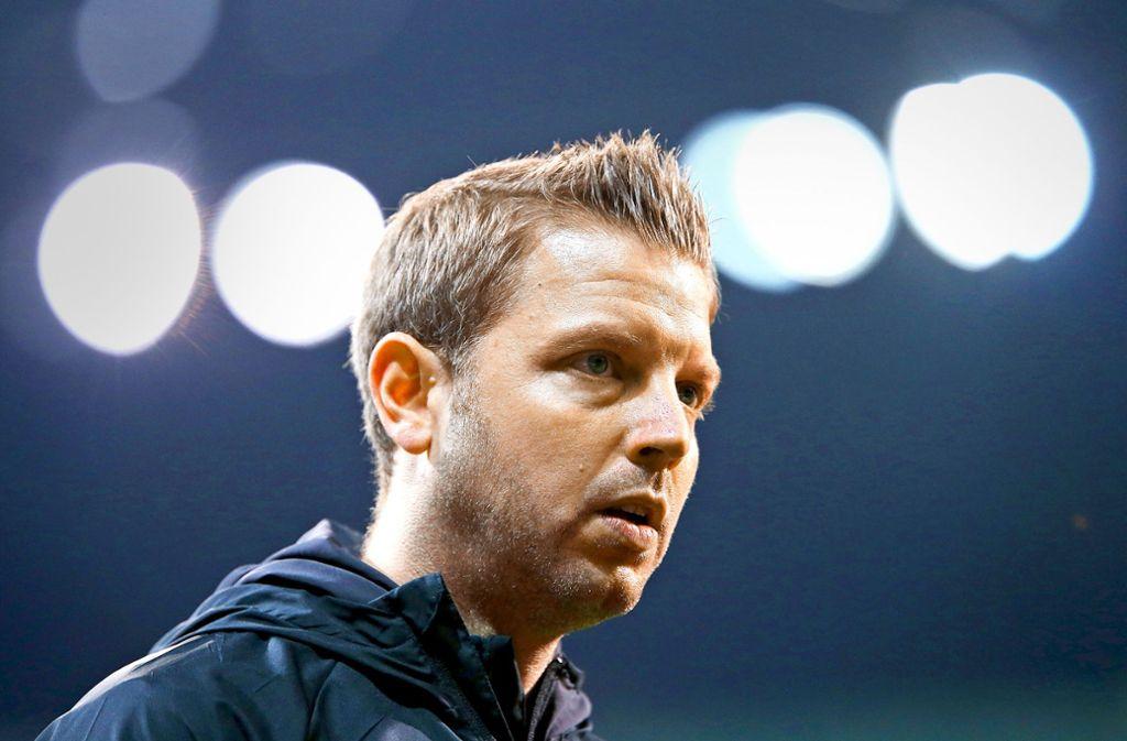 Trainer Florian Kohfeldt hat Werder Bremen wieder ins Schweinwerferlicht geführt. Foto: Baumann