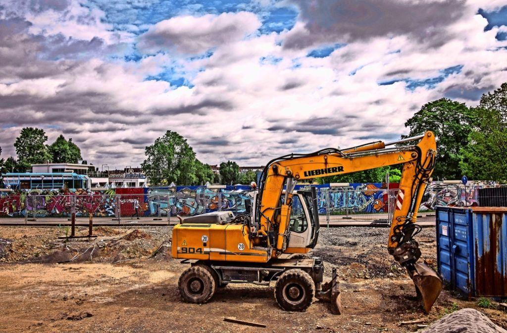 Auf der Baustelle am Leuze kommt es zu Verzögerungen Foto: Lichtgut/Max Kovalenko