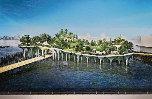 Ein Park mitten im Hudson River