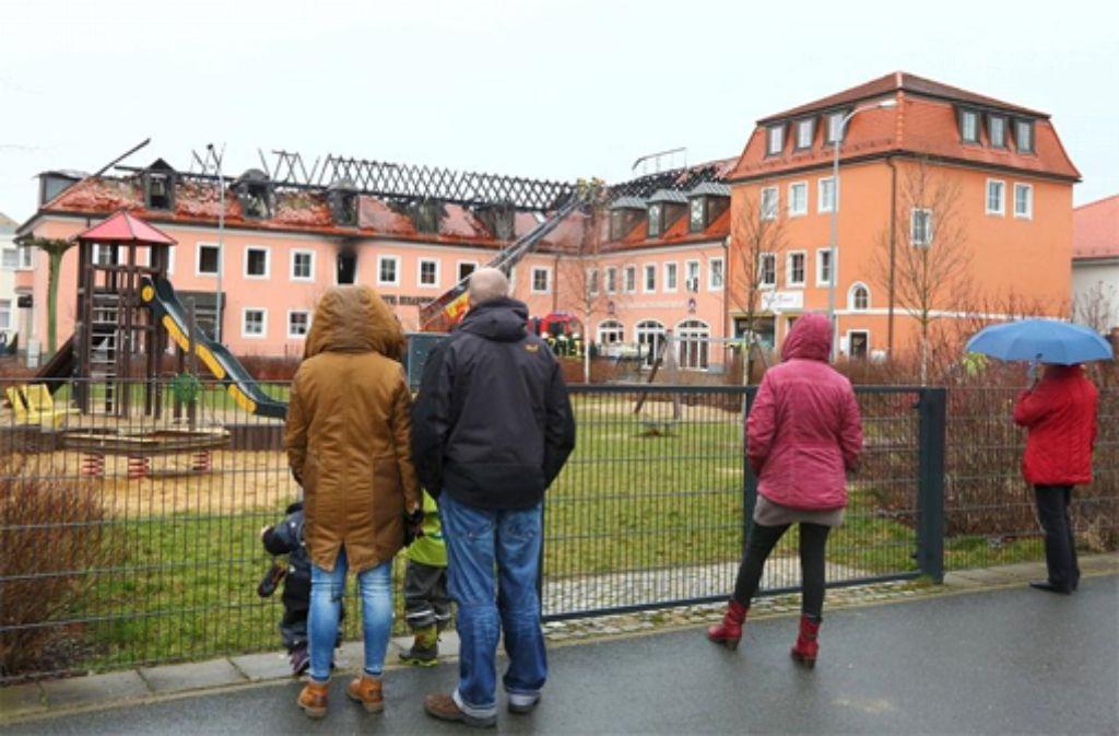 In Bautzen ist in der Nacht zum Sonntag in einem geplanten Flüchtlingsheim ein Feuer ausgebrochen. Foto: dpa