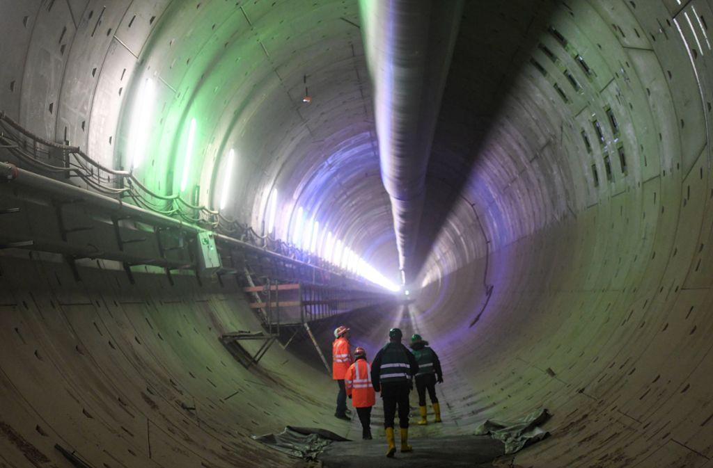 Die Tunnelröhre bei Rastatt: wie geht es weiter mit dem Bau? Foto: dpa