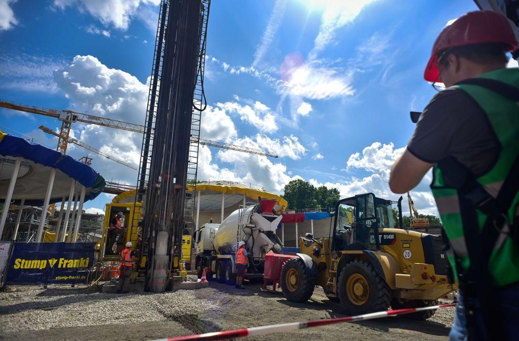 Die Bauarbeiten am Großprojekt Stuttgart 21 sind in vollem Gange. Foto: