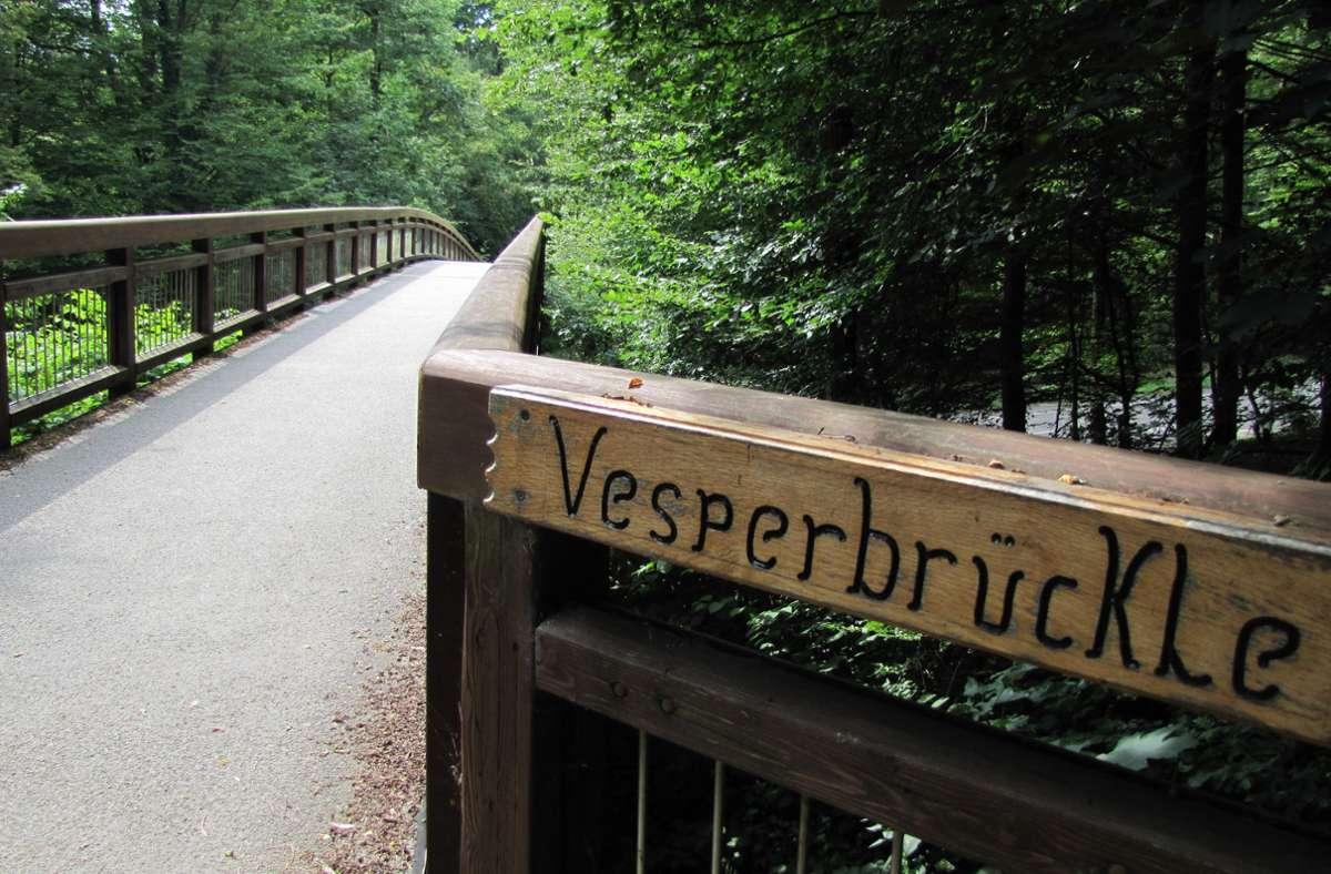 Das alte Vesperbrückle (Foto) war morsch. Foto: Judith Sägesser