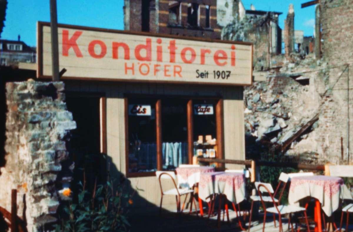 Neuer Anfang in Ruinen: eine Konditorei in Köln Foto: ZDF/Agentur Höffkes