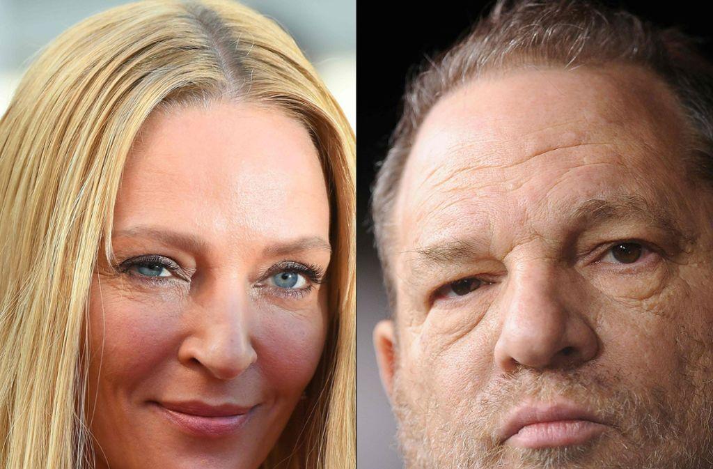 Ist Uma Thurman auch ein Opfer von Harvey Weinstein? Foto: AFP