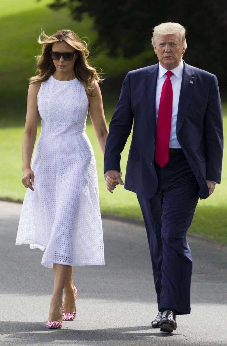 Seit 2005 sind Donald und Melania Trump verheiratet. Sie ist seine dritte Frau, ... Foto: AP