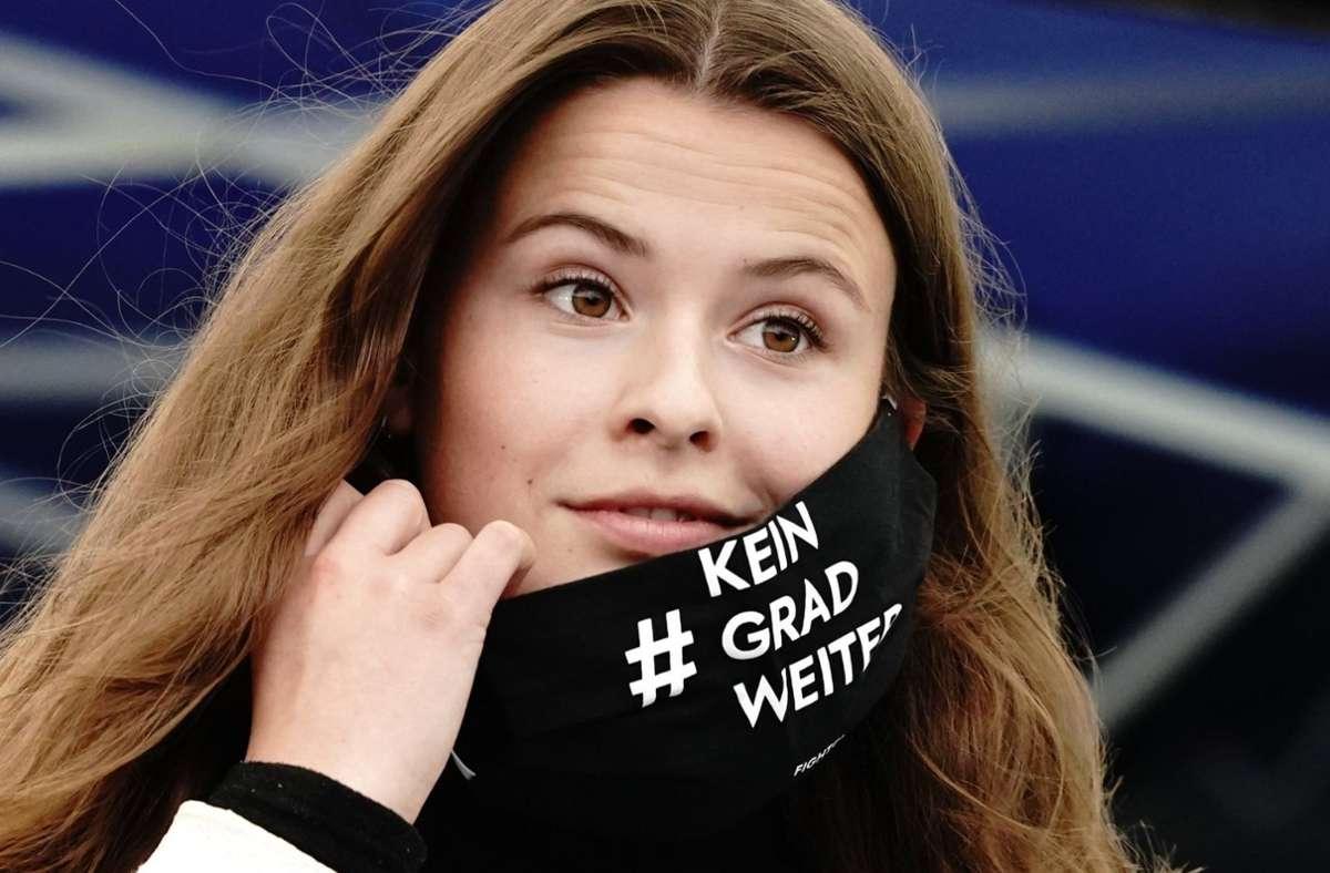 Luisa Neubauer hat große Proteste angekündigt. Foto: dpa/Kay Nietfeld