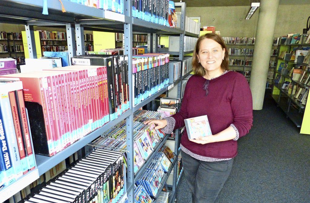 Karin Franz an ihrer neuen Wirkungsstätte Foto: Gall