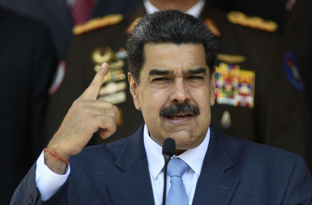 Nach Angaben der Wahlbehörde kam das Parteienbündnis Maduros bei der Wahl am Sonntag auf knapp 68 Prozent der Stimmen (Archivbild). Foto: AP/Matias Delacroix