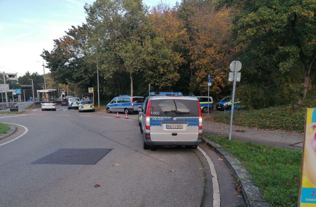 Großes Polizeiaufgebot in Botnang Foto: privat