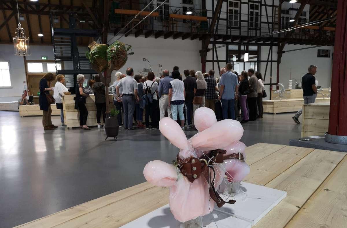 Ein Blick in die Alte Kelter bei der Triennale 2019. Foto: Patricia Sigerist