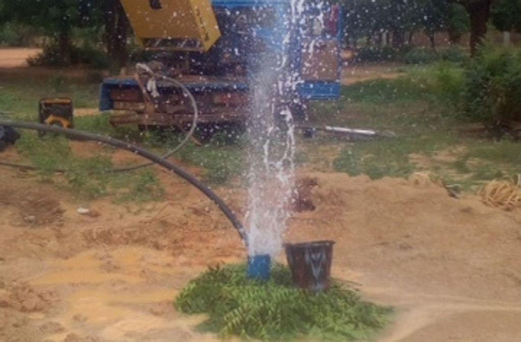 Endlich Trinkwasser: Ludwigsburg und Monbéliard haben in Kongoussi Brunnen gebohrt. Foto: Ludwigsburg