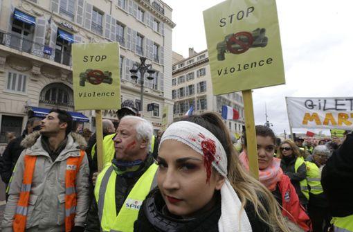 """""""Gelbwesten""""-Protest gegen Polizeigewalt in Paris"""