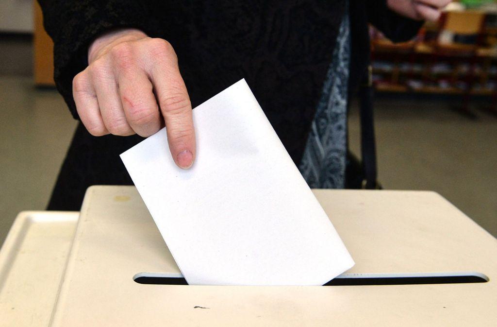 Große Auswahl auf dem Stimmzettel: acht Kandidaten wollen am am 1. Juli neuer Bürgermeister in Walheim werden. Foto: dpa
