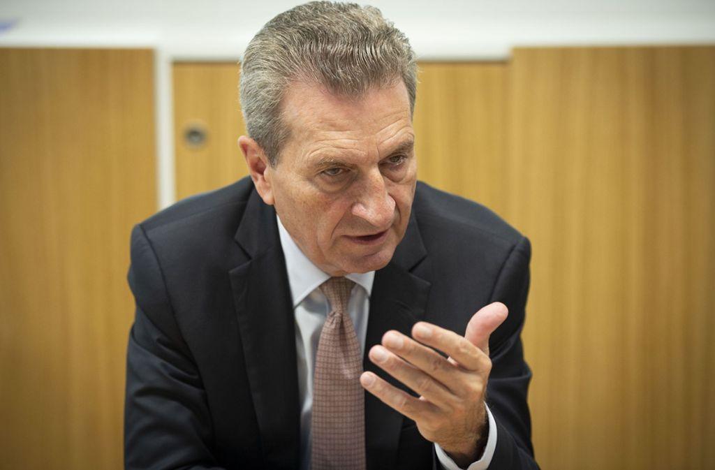 Günther Oettinger war bis Ende 2019 EU-Haushaltskommissar und arbeitet heute in Hamburg als selbstständiger Wirtschafts- und Politikberater. Foto: /LICHTGUT/Leif Piechowski