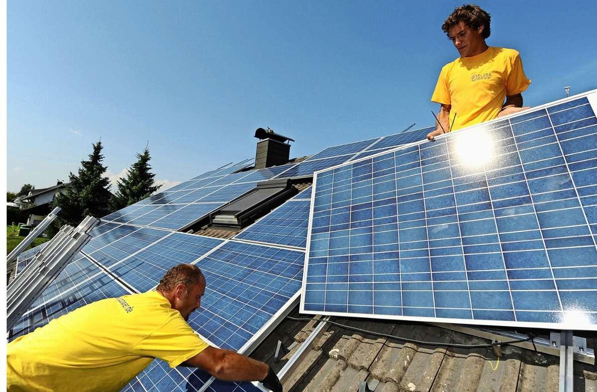 Je mehr Fotovoltaik, desto besser. So heißt nun das Ziel. Foto: dpa/Marc Müller