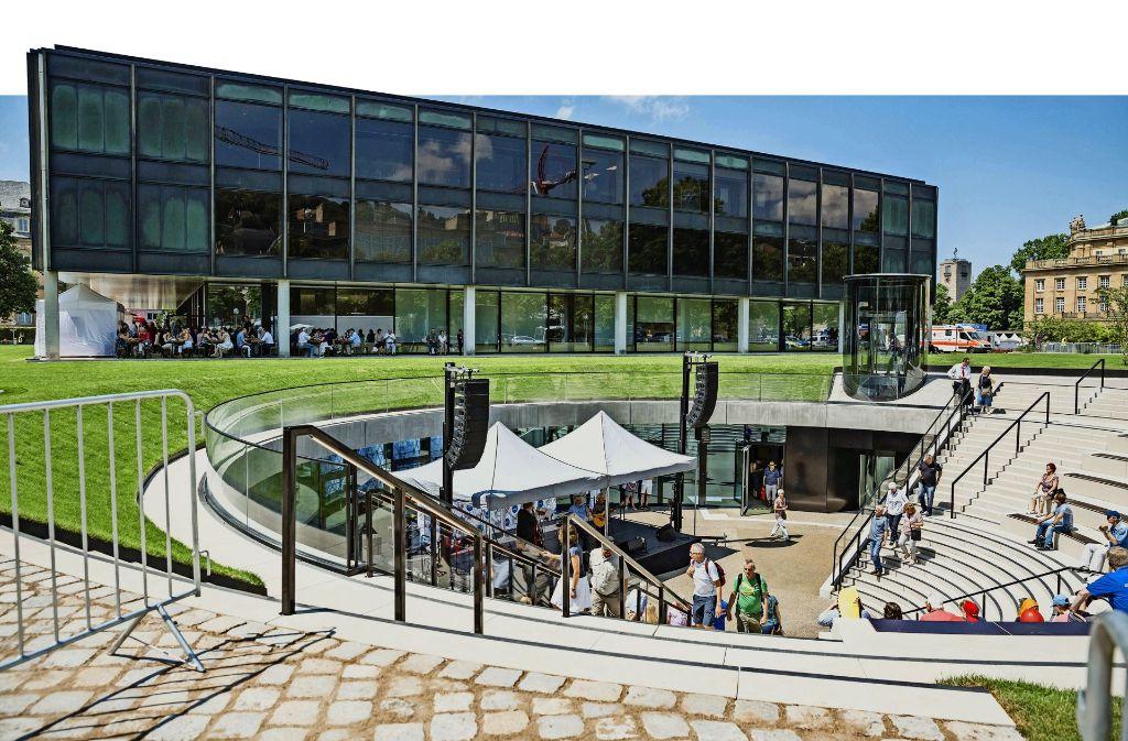 Das neue Bürger- und Medienzentrum des Landtags. Foto: Lichtgut/Julian Rettig