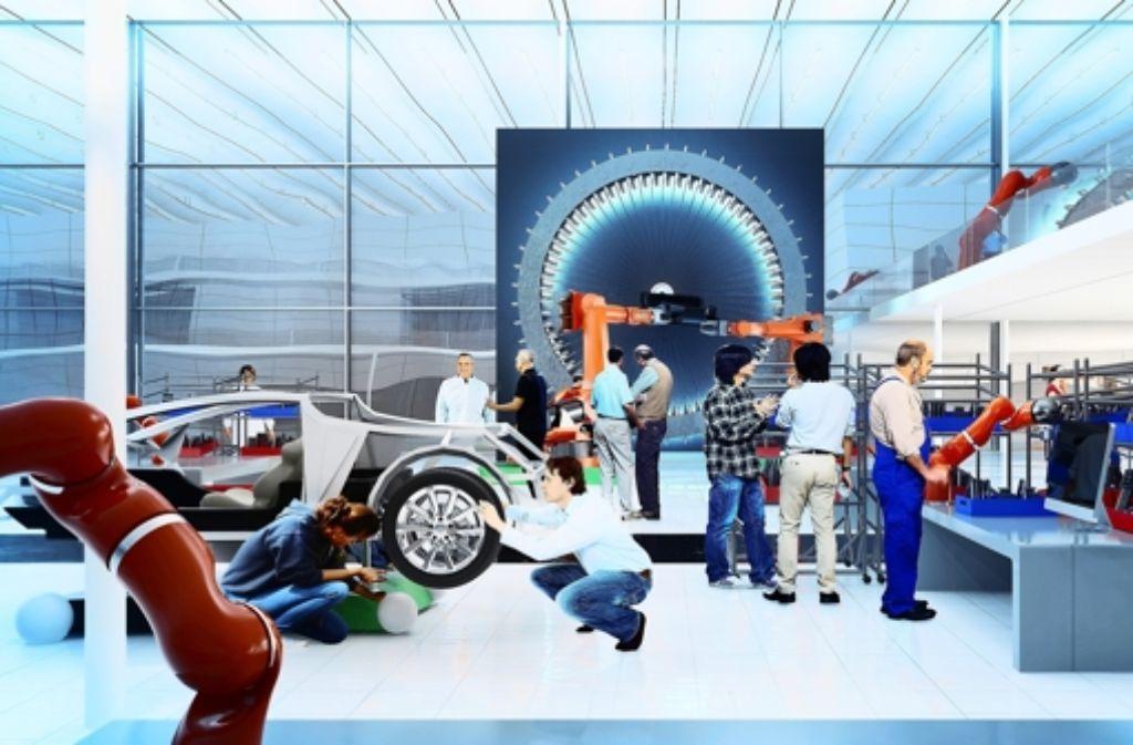 """In der Zukunft soll die Produktion viel flexibler sein. Das ist ein Bestandteil des Projekts """"Arena 2036"""" der Universität Stuttgart. Foto:"""