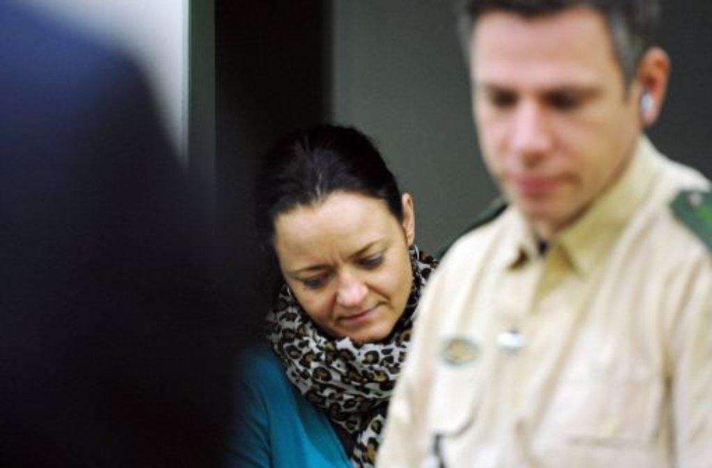 Beate Zschäpe im Gerichtssaal Foto: dpa