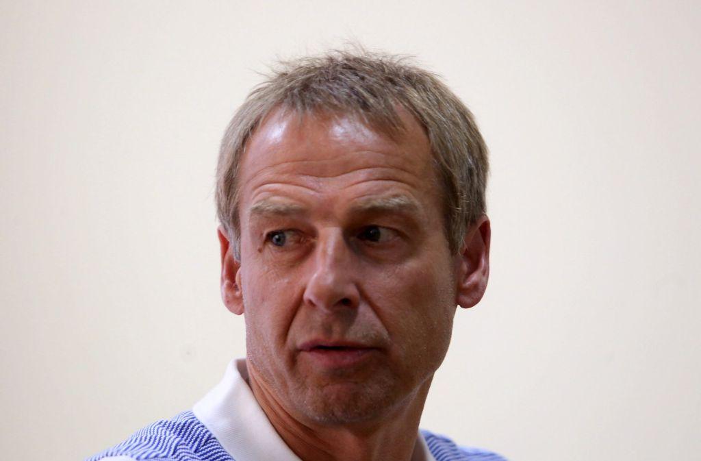 Das Ende des Grummelns: Jürgen Klinsmann wird als US-Nationaltrainer entlassen. Foto: dpa