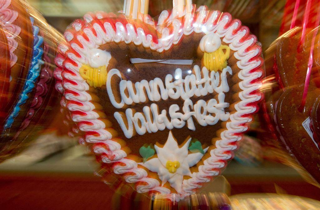 Lebkuchen-Gruß vom Cannstatter Volksfest Foto: dpa/Marijan Murat