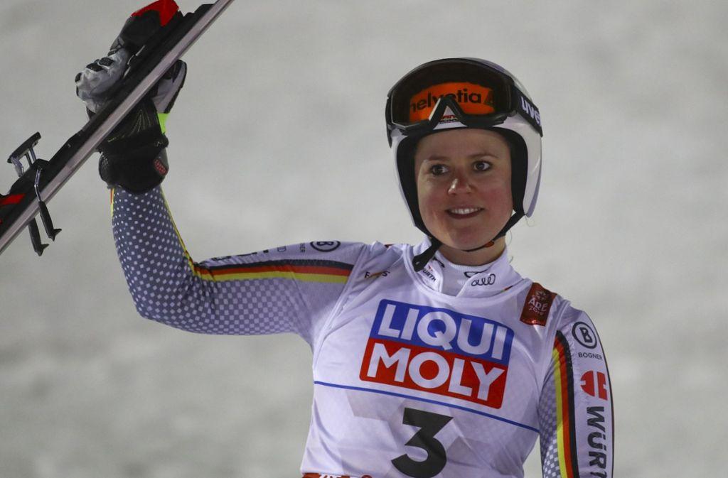Viktoria Rebensburg holt Silber im Riesenslalom. Foto: AP