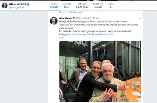 """AfD-Chefin wird unter """"weidelhuggingthings"""" zum Meme"""