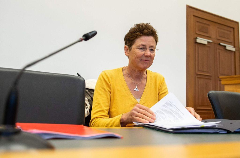 Die Ärztin Kristina Hänel vor Gericht. Foto: dpa