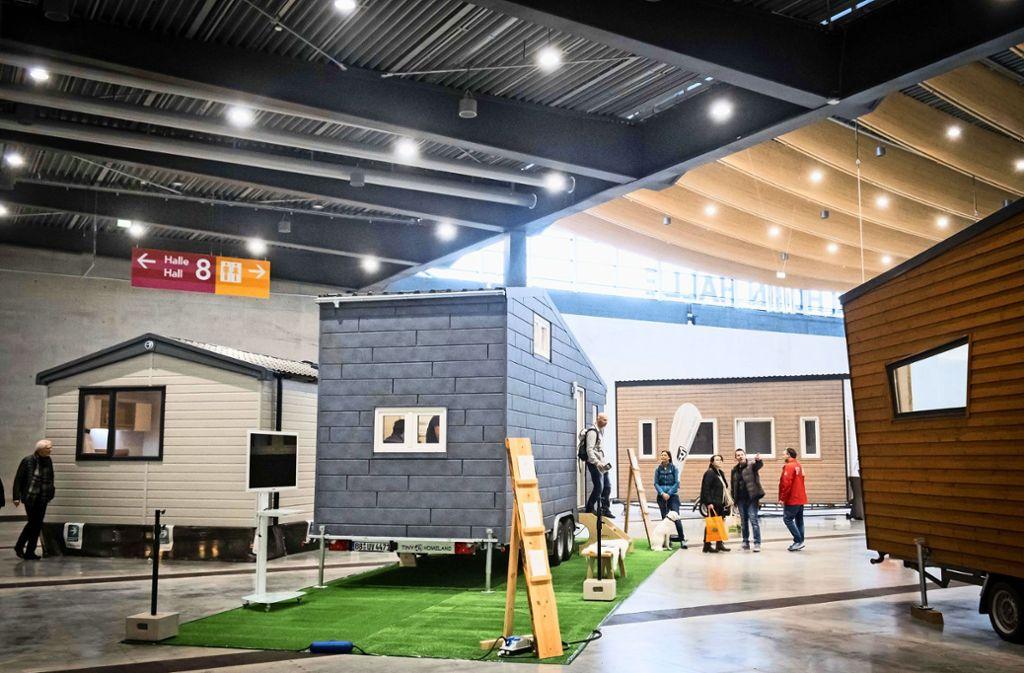 Verschiedene Mini-Häuser kann man auf der CMT in Stuttgart besichtigen. Foto: Lichtgut/Achim Zweygarth