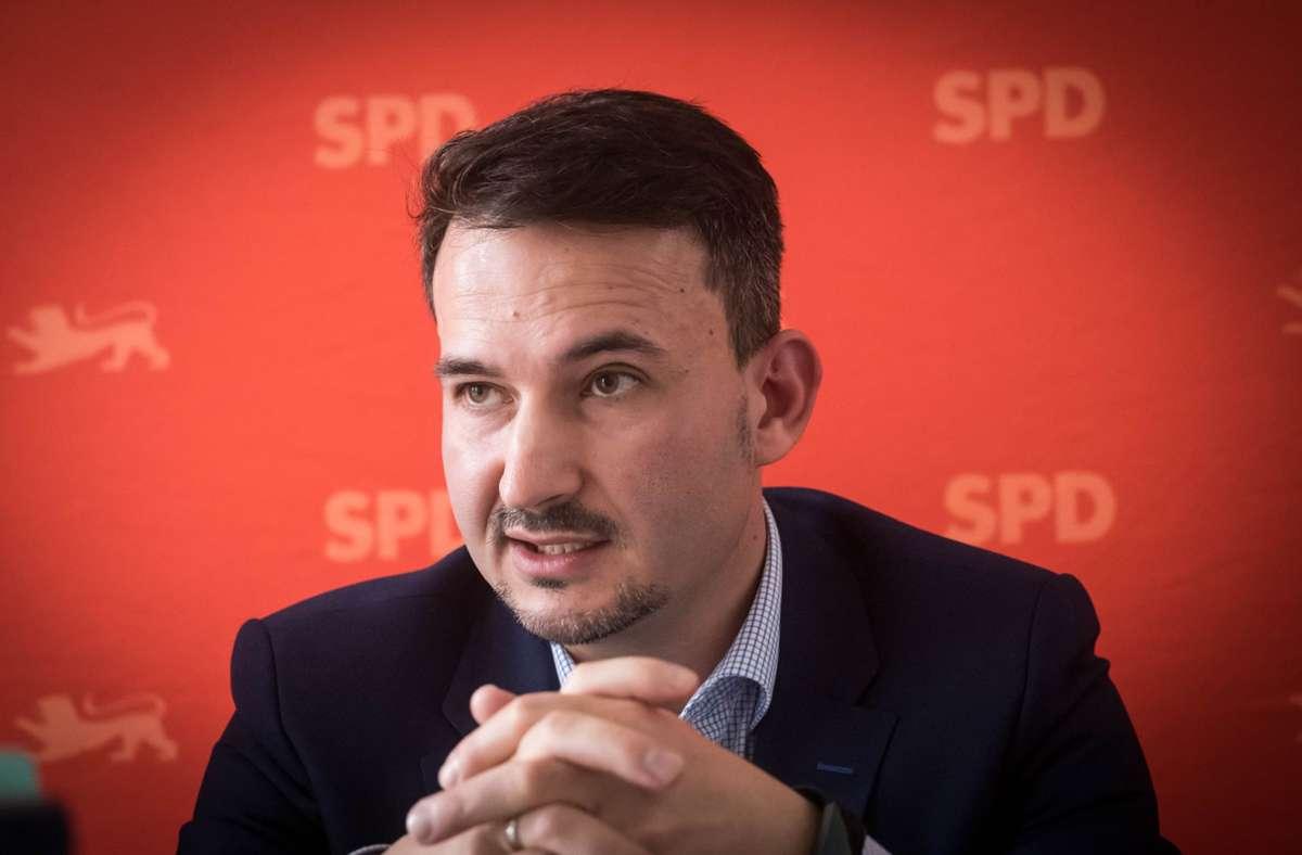 Stuttgarts SPD-Kreisvorsitzende Dejan Perc. (Archivbild) Foto: Lichtgut/Achim Zweygarth