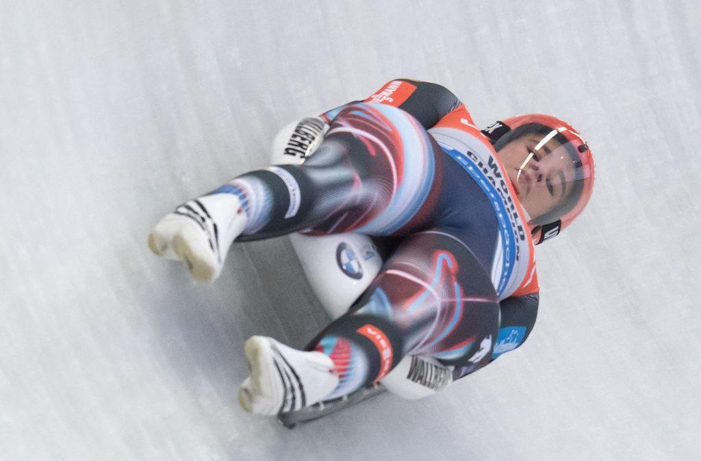 Olympiasiegerin Natalie Geisenberger hat sich auf ihrer Heimbahn am Königssee den EM-Titel im Rennrodeln gesichert. Foto: dpa