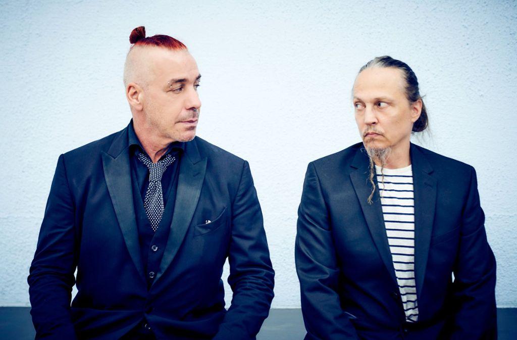 """Till Lindemann und Peter Tägtgren haben das Album """"F & M"""" veröffentlicht. Foto: dpa/Jens Koch"""