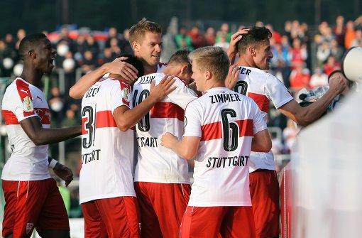 Mit dieser Aufstellung startet der VfB
