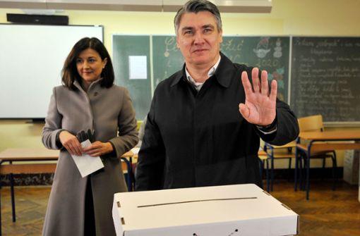 Prognose: Sozialdemokrat Zoran Milanovic wird  neuer Präsident