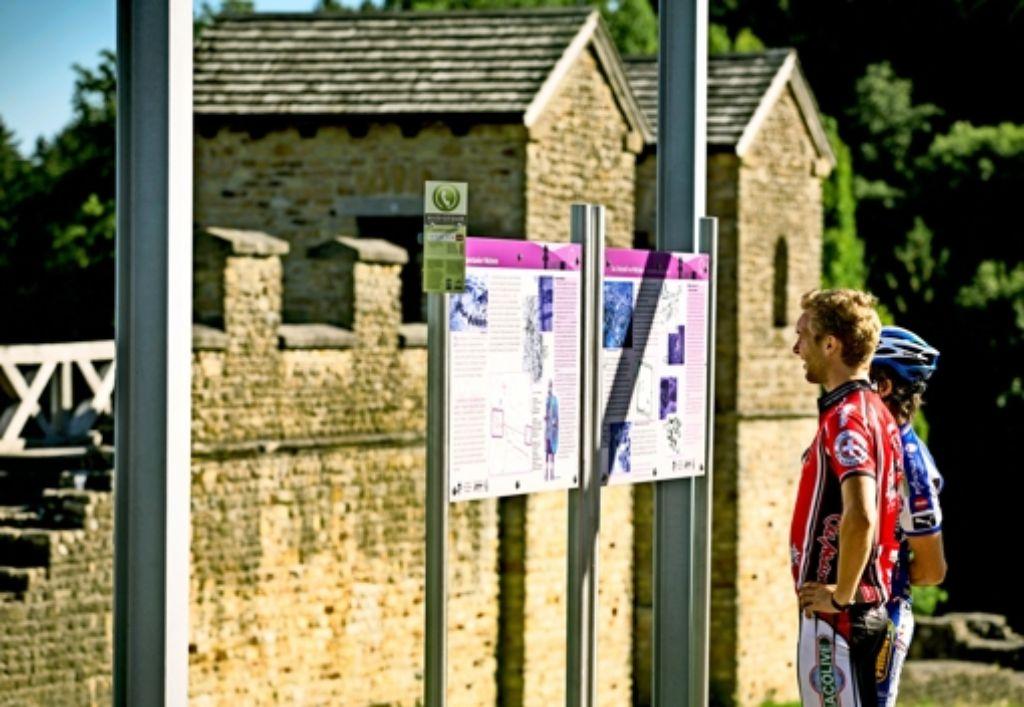 Die neue E-Bike-Strecke  führt auch durch Welzheim. Das dortige Ostkastell lässt die Lebensweise der alten Römer erahnen. Foto: Eppler/Archiv