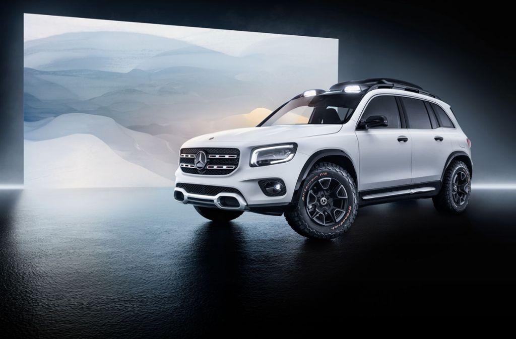 """Der """"Concept GLB"""" wurde auf der Messe """"Auto Shanghai"""" erstmals präsentiert. Foto: Daimler AG"""