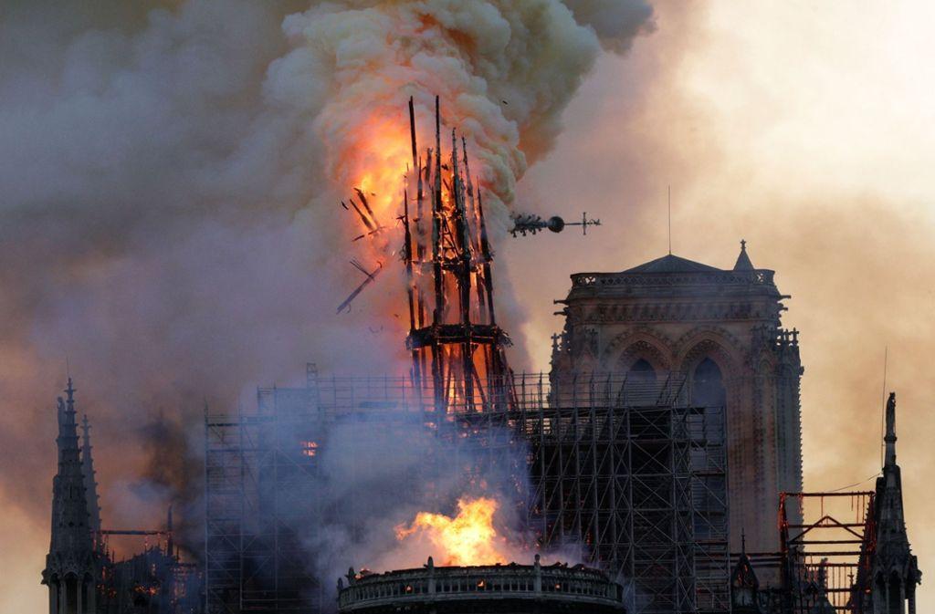 Die Ausmaße des Brandes sind noch nicht abzuschätzen. Foto: AFP