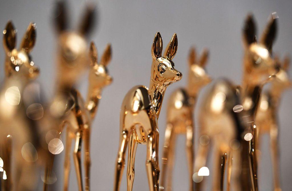 21 Preisträger werden in diesem Jahr mit dem Bambi geehrt. (Archivbild) Foto: dpa/Jens Kalaene