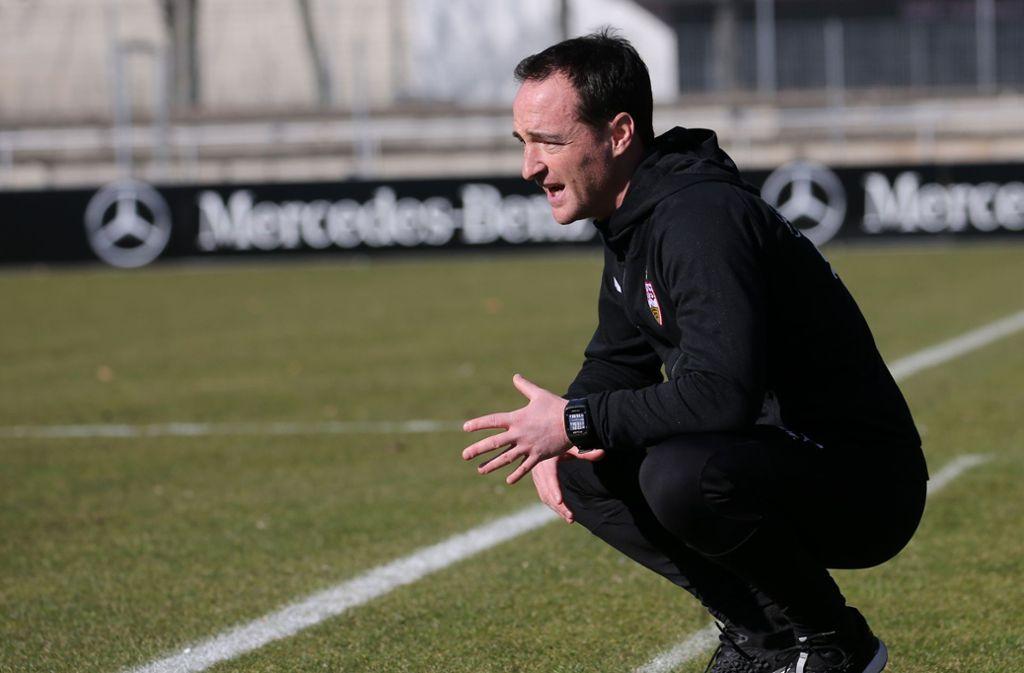 Trainer Nico Willig steht mit seiner Mannschaft an der Tabellenspitze in der U19-Bundesliga. Foto: Pressefoto Baumann