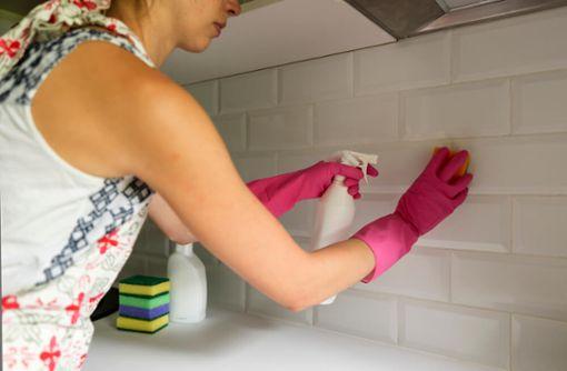 Küchenfliesen reinigen